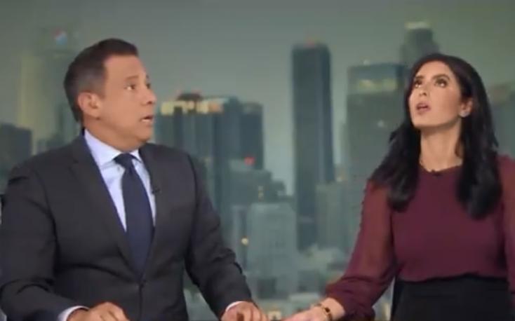 A híradó élő adásában jött a földrengés (VIDEÓ)