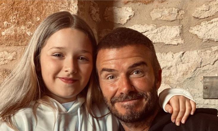 Kitört a botrány az Instagramon, mert David Beckham szájon puszilta a lányát – FOTÓ