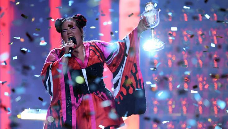 Így ünnepelt a győzelem pillanatában az Eurovízió nyertese (videó)