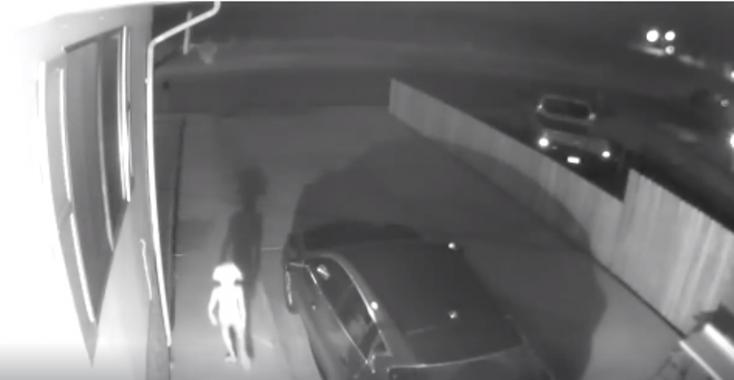 Titokzatos lényre lett figyelmes egy nő a háza előtt (VIDEÓ)