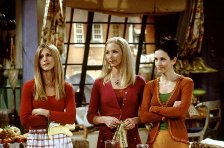A Jóbarátok Monicája Rachellel és Phoebe-vel szülinapozott